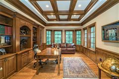 Luxury homes expanded and renovated french manor sytle home
