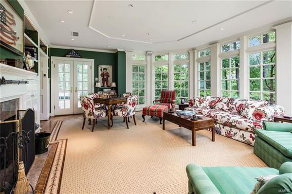 Luxury real estate This truly exceptional home includes a cozy den and a sunroom