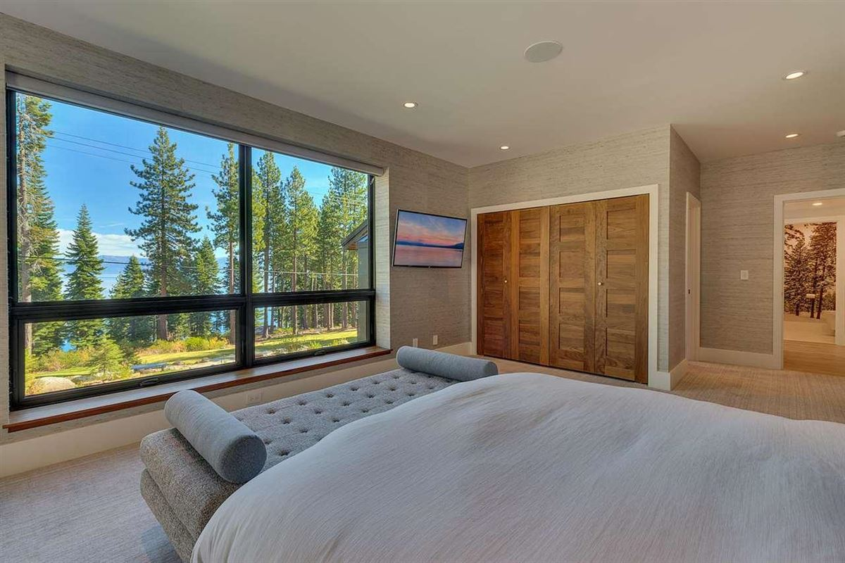 Luxury real estate lake view eight-acre property