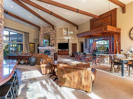Luxury real estate home on two acres in exclusive gated community