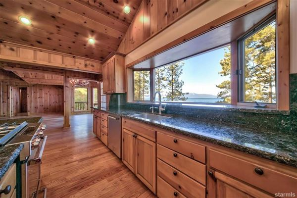 Mansions in Lakefront Estate on the Nevada Side of Lake Tahoe