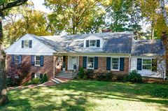brick front Colonial style home mansions