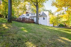 Luxury real estate brick front Colonial style home