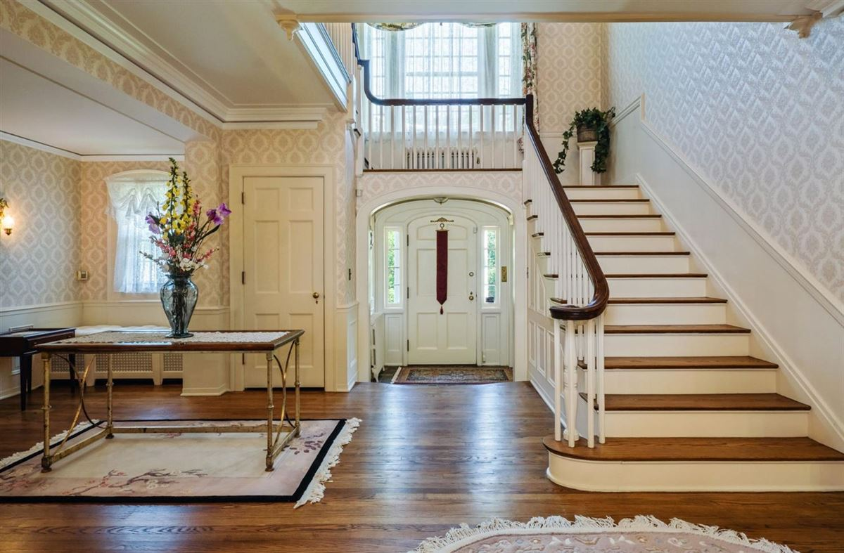 a stunning brick colonial luxury homes