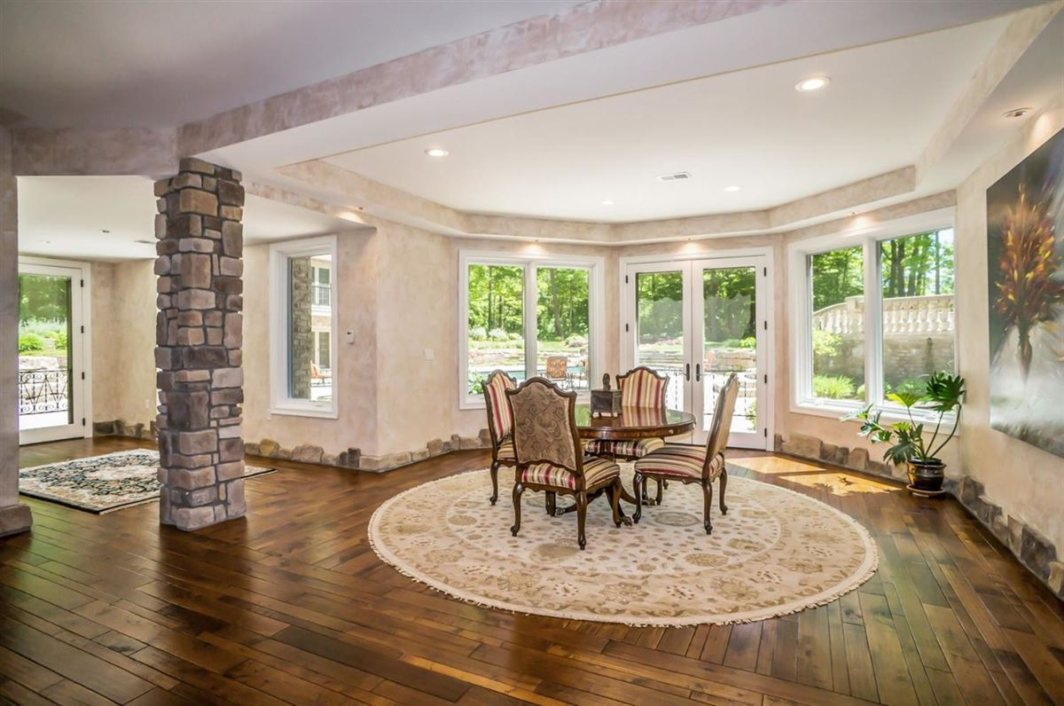 Luxury real estate beautiful French Country Estate style retreat in Northville