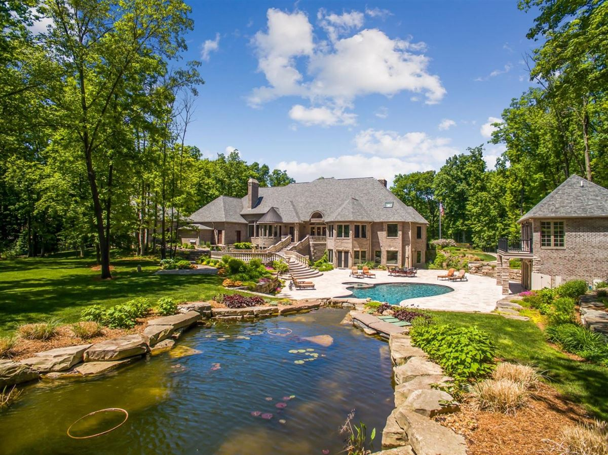 beautiful French Country Estate style retreat in Northville luxury properties