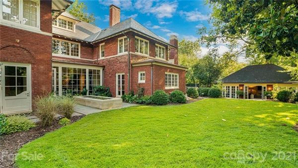 Luxury real estate private light-filled historic estate in dilworth