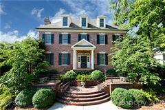 Luxury real estate Elegant brick Georgian on manicured private lot