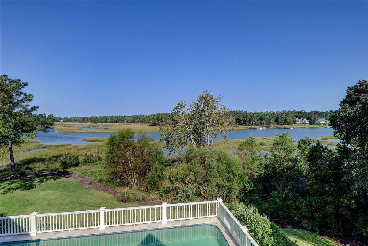 Luxury properties property overlooking Landfalls pristine tidal Howe Creek