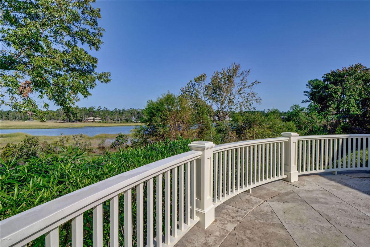 property overlooking Landfalls pristine tidal Howe Creek luxury real estate