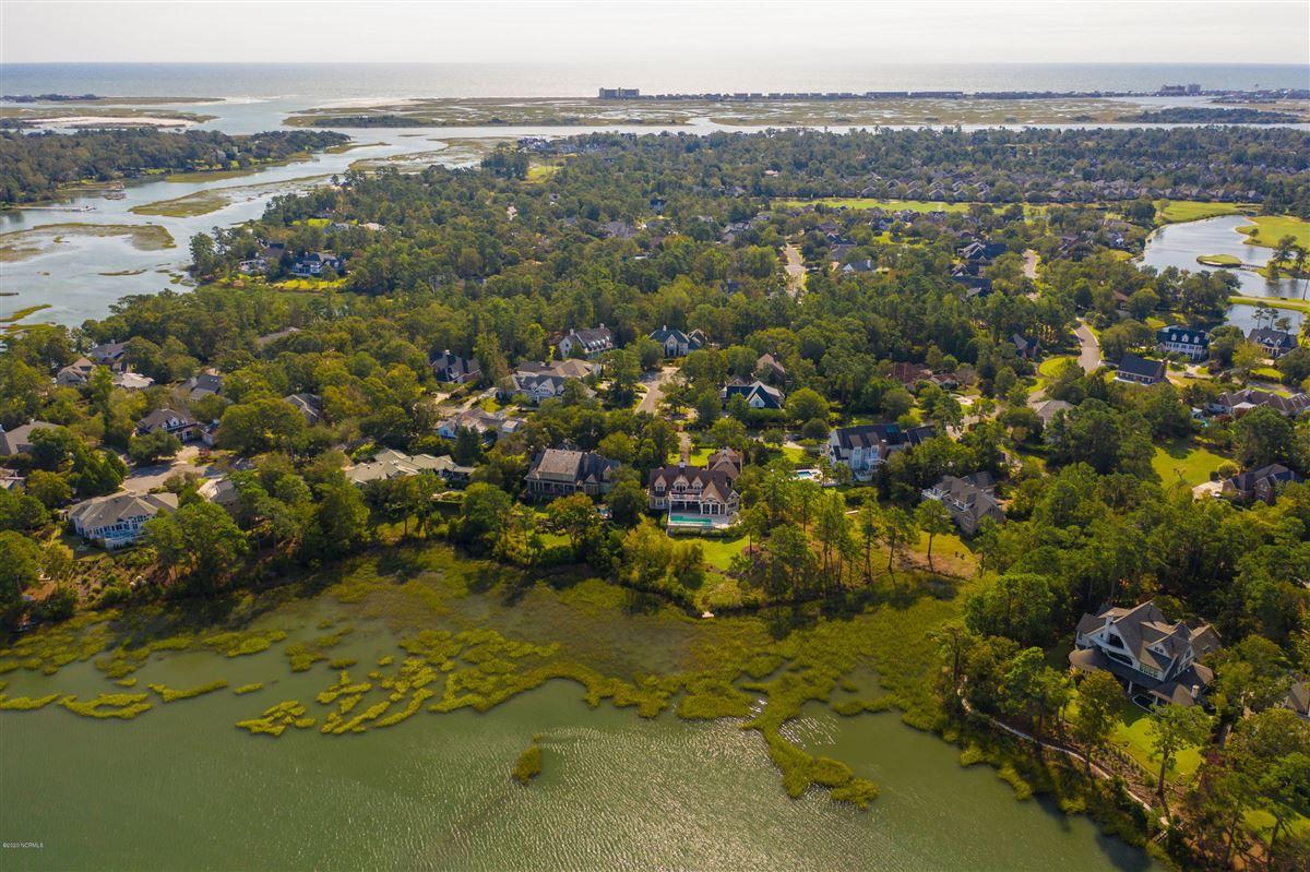 Luxury real estate property overlooking Landfalls pristine tidal Howe Creek