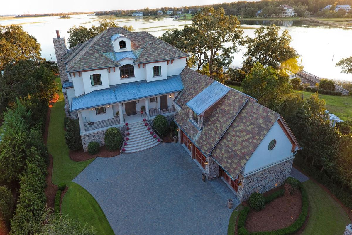 Mansions Spectacular Bradley Creek Point Residence