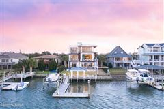 Mansions in contemporary deep waterway home