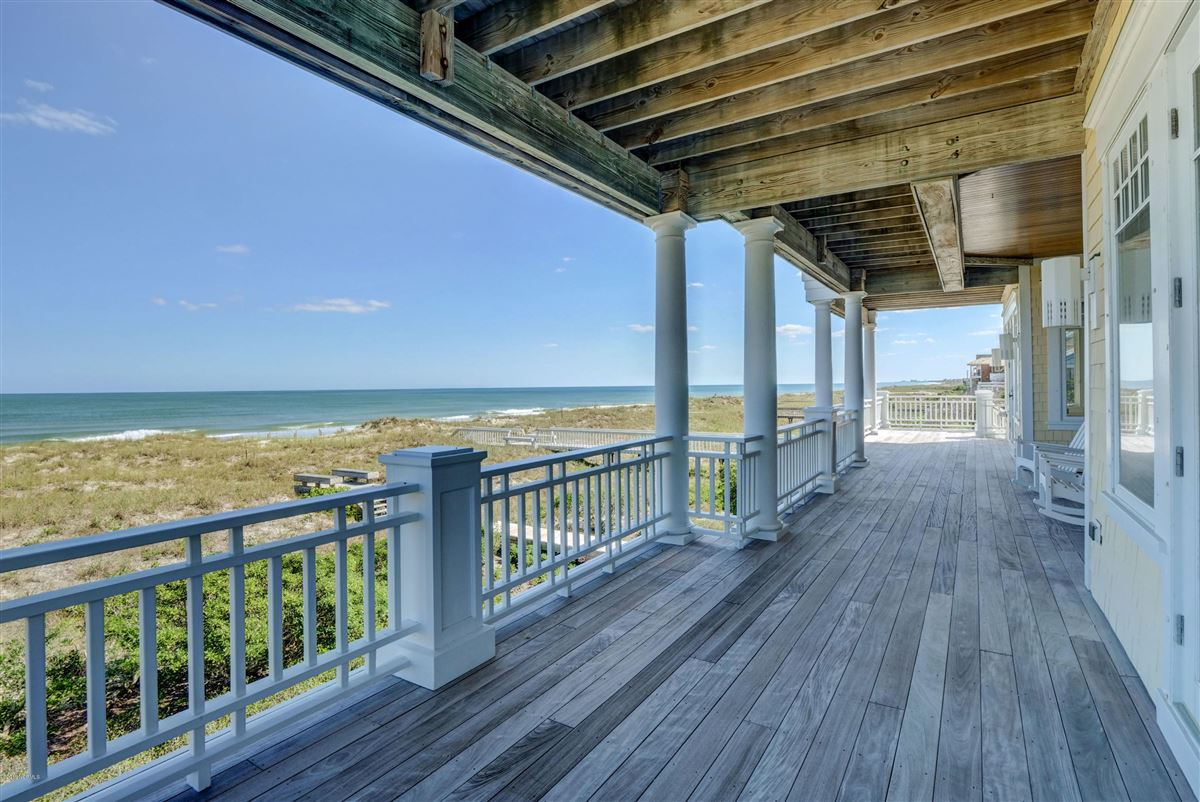 Luxury real estate oceanfront home located on the north end of Figure Eight