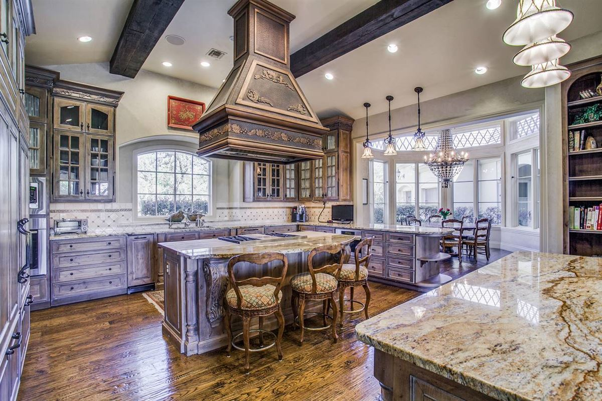 exquisite custom-built French country estate mansions