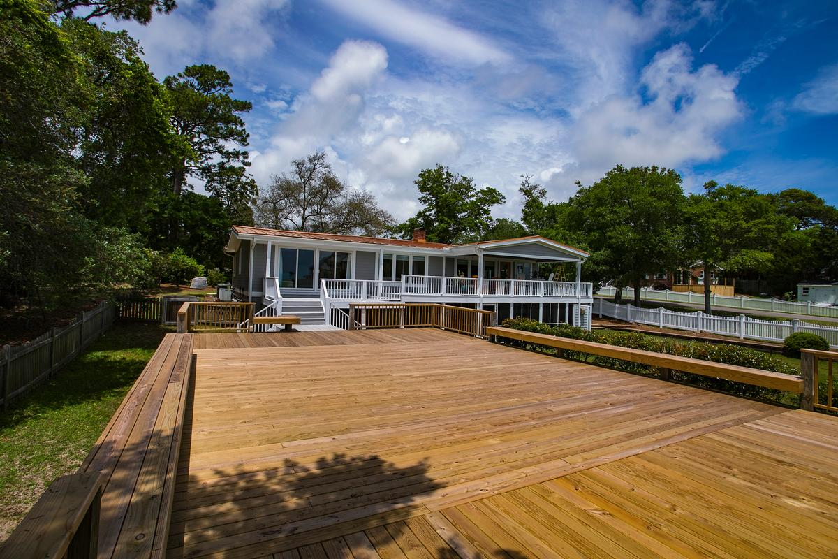 Beautiful view of the Cape Fear River luxury properties