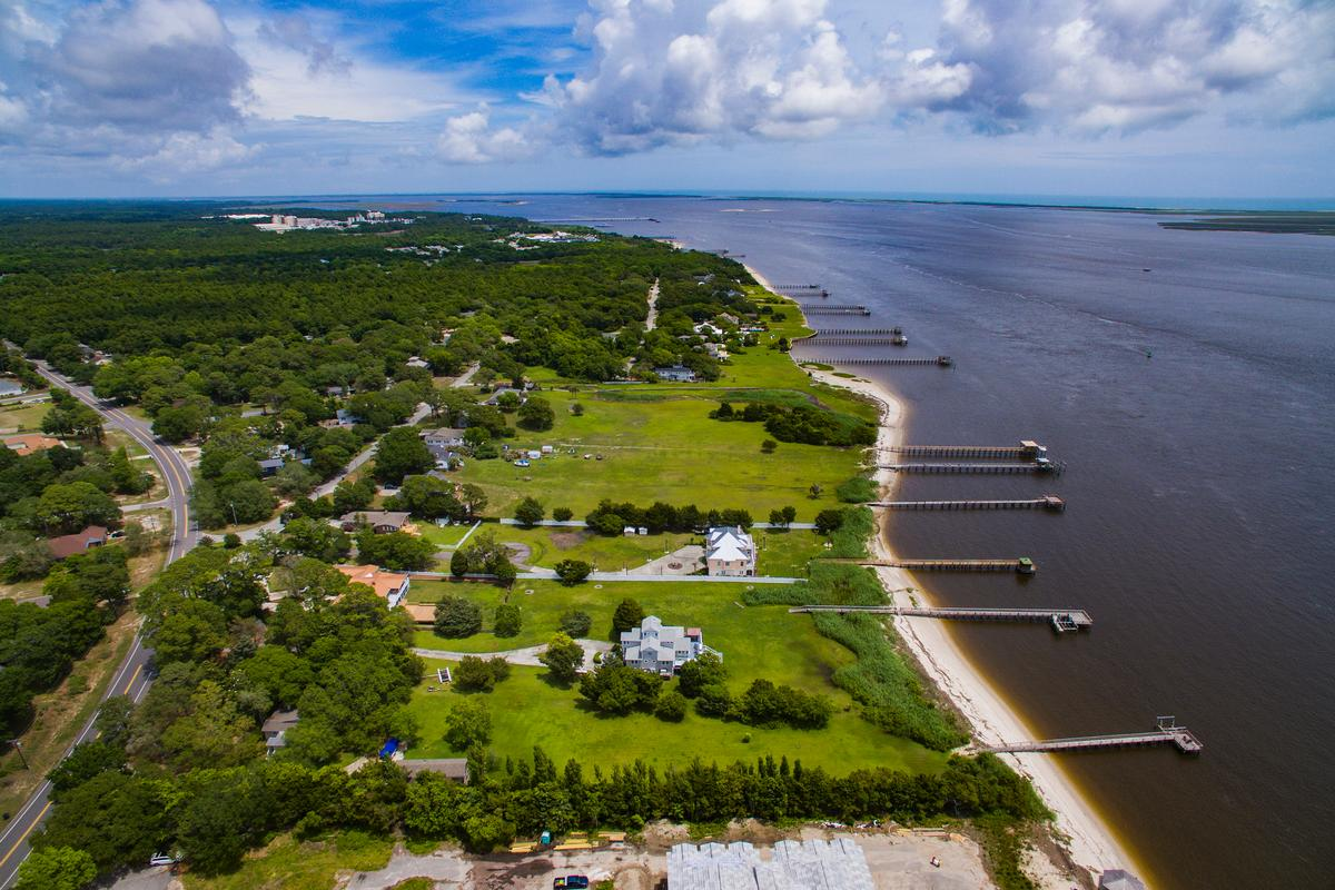 Beautiful view of the Cape Fear River luxury homes