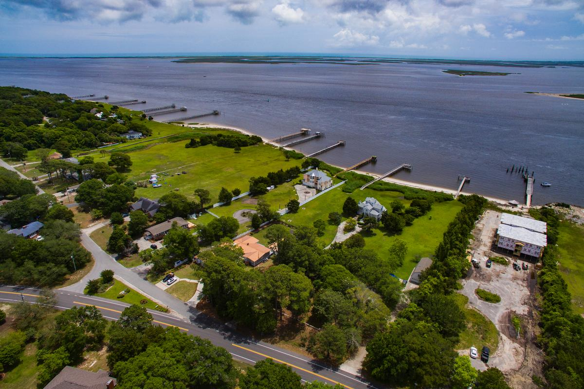 Beautiful view of the Cape Fear River luxury real estate