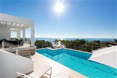 Luxury real estate contemporary villa with panoramic views