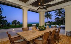 Mansions in Sublime Vero Beach estate on pristine beach