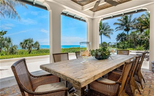 Luxury homes Sublime Vero Beach estate on pristine beach