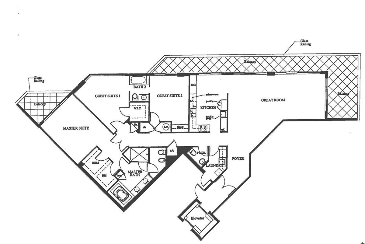Spectacular wraparound corner unit mansions