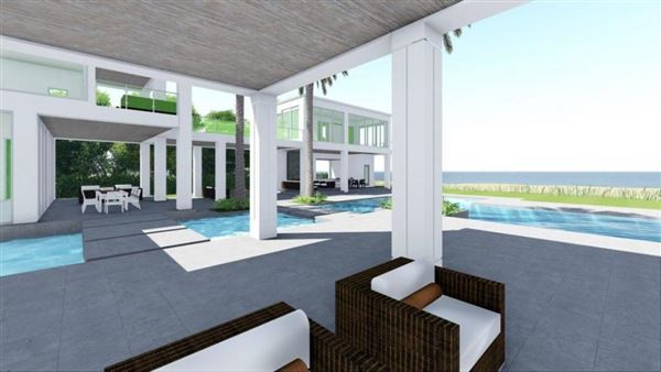 Luxury real estate new oceanfront contemporary custom home