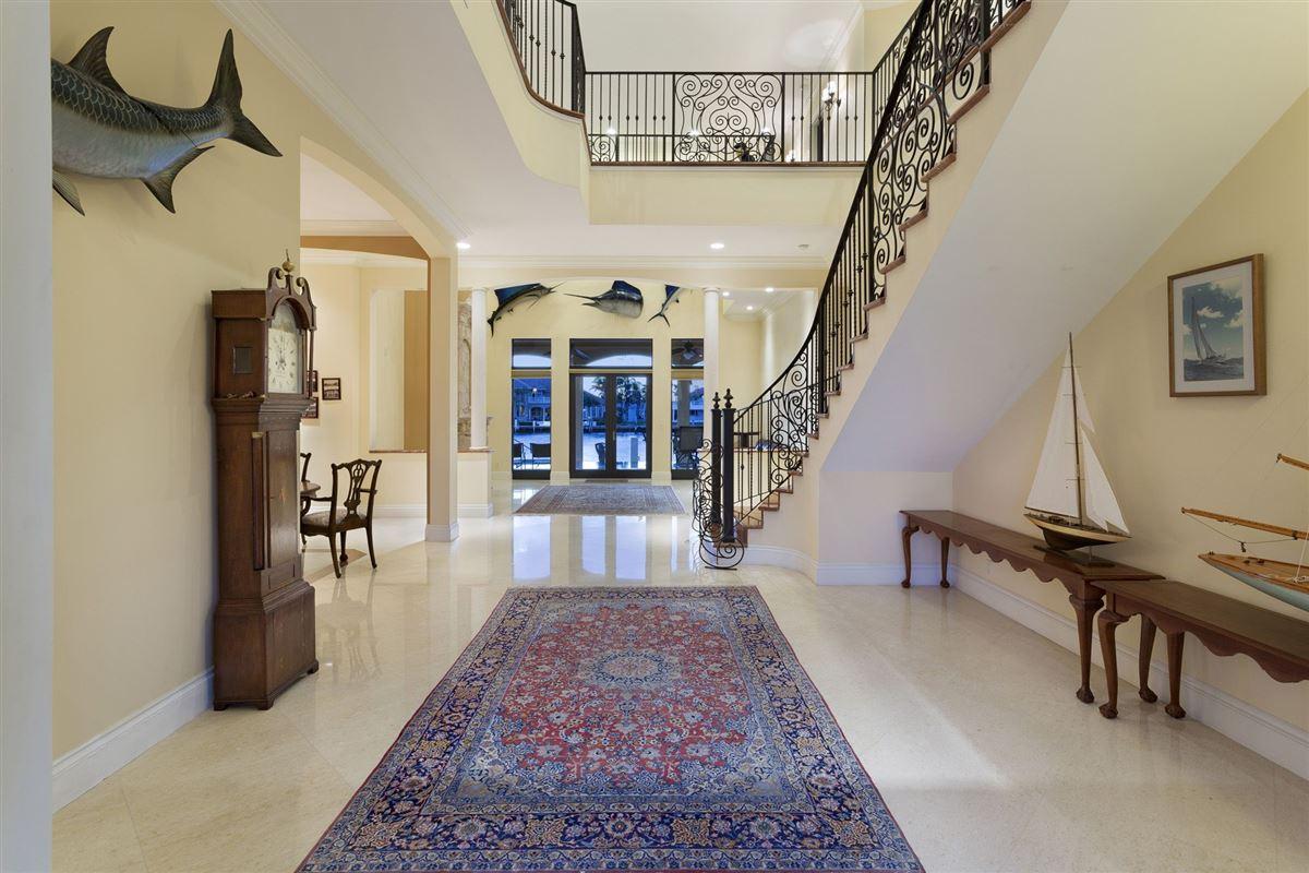 Custom built Tuscan inspired waterfront estate luxury homes