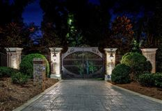 Luxury homes gated waterfront estate