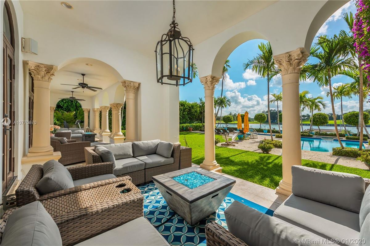 special Mediterranean Estate in coveted Bay Harbor Islands luxury homes