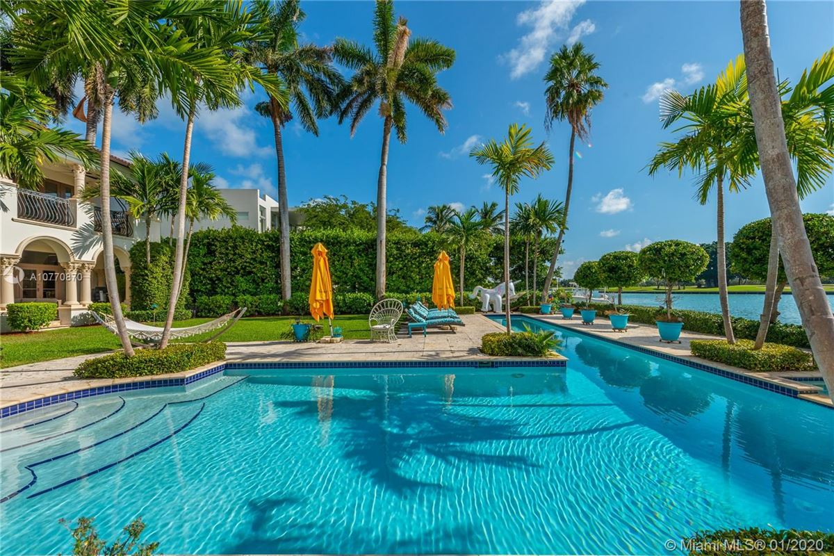special Mediterranean Estate in coveted Bay Harbor Islands luxury real estate