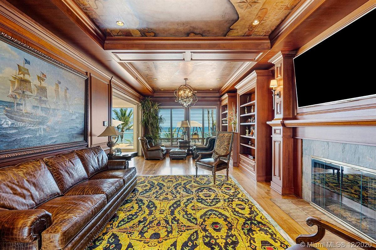 Luxury real estate Oceanfront gated estate on Hillsboro Mile