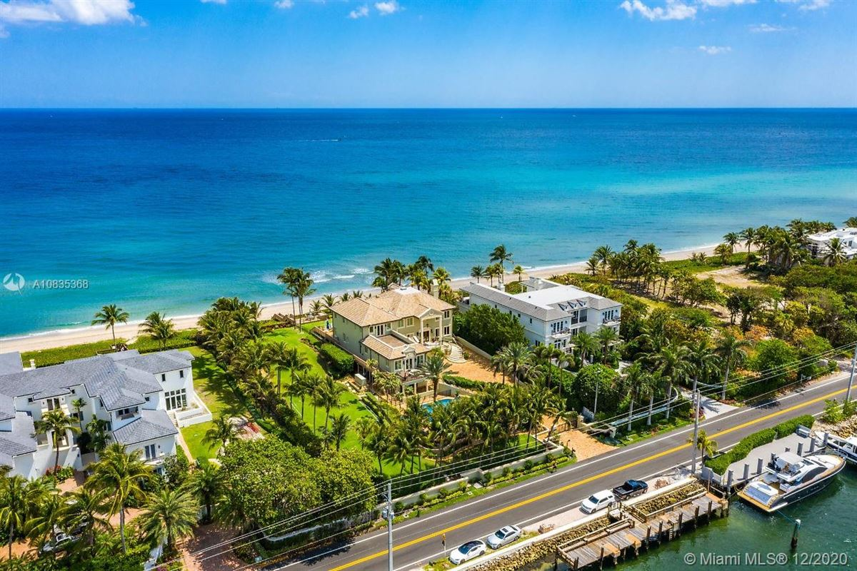 Oceanfront gated estate on Hillsboro Mile luxury properties