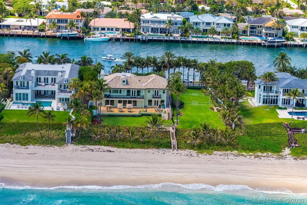 Mansions Oceanfront gated estate on Hillsboro Mile