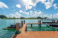 Mansions in Stunning Mediterranean Waterfront Estate in Bay Harbor Islands