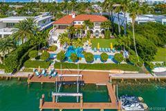 Stunning Mediterranean Waterfront Estate in Bay Harbor Islands mansions