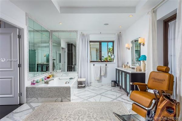 Mansions Stunning Mediterranean Waterfront Estate in Bay Harbor Islands