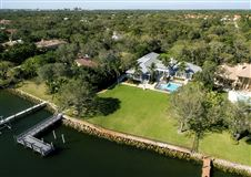 Luxury real estate impeccably designed waterfront estate home