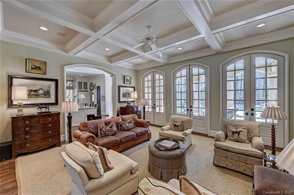 Luxury properties French Baroque estate on private wooded property