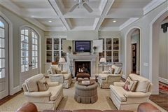 French Baroque estate on private wooded property luxury real estate