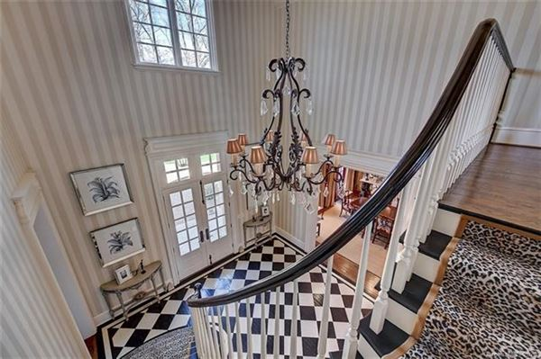French Baroque estate on private wooded property mansions