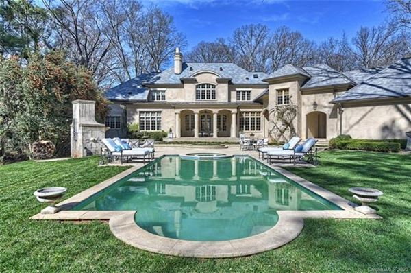 Mansions French Baroque estate on private wooded property