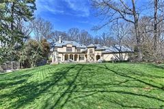 French Baroque estate on private wooded property luxury properties