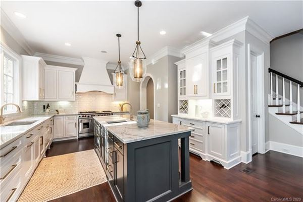 gracious custom home in myers park luxury homes
