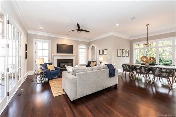 gracious custom home in myers park mansions