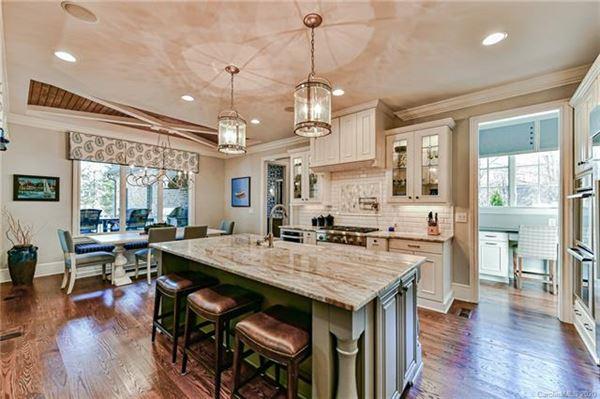 Mansions beautiful custom home in popular Davidson Wood