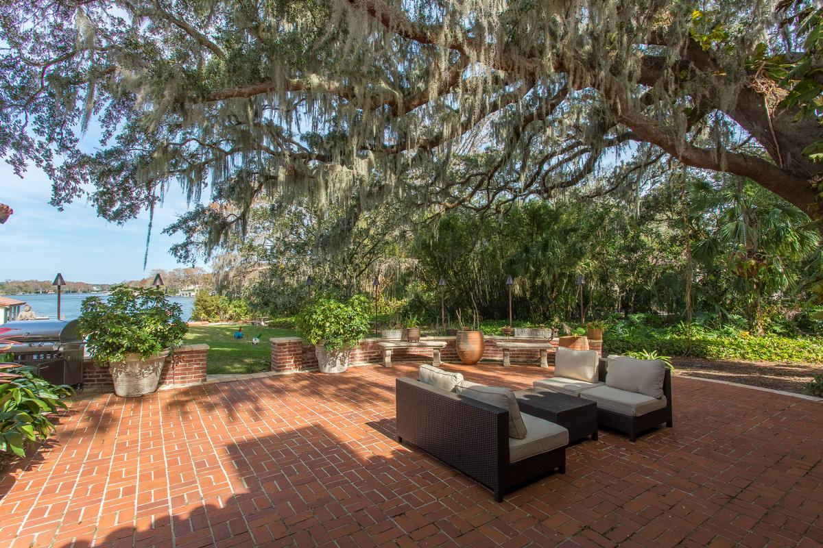 1930 Mediterranean on the Shores of Lake Osceola luxury homes