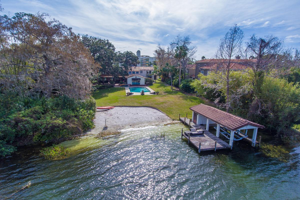 1930 Mediterranean on the Shores of Lake Osceola luxury real estate