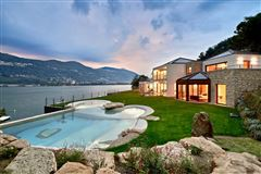 a majestic lake front home in montagnola mansions