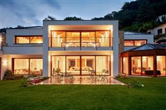 a majestic lake front home in montagnola luxury real estate